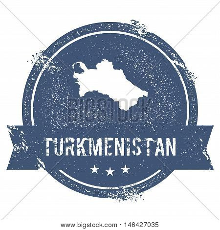 Turkmenistan Mark. Travel Rubber Stamp With The Name And Map Of Turkmenistan, Vector Illustration. C