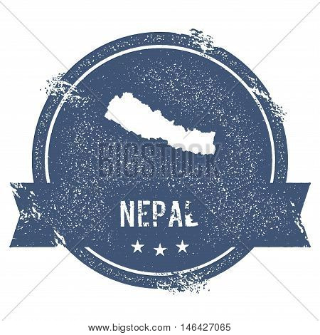 Nepal Mark. Travel Rubber Stamp With The Name And Map Of Nepal, Vector Illustration. Can Be Used As
