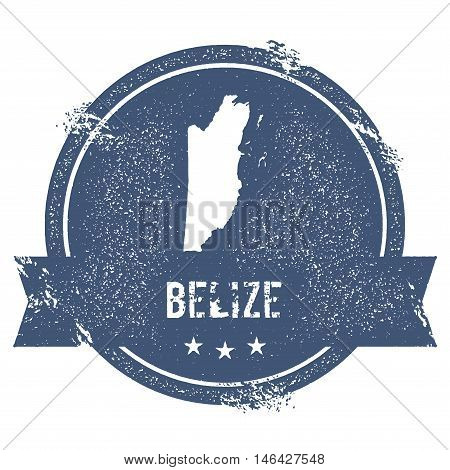 Belize Mark. Travel Rubber Stamp With The Name And Map Of Belize, Vector Illustration. Can Be Used A