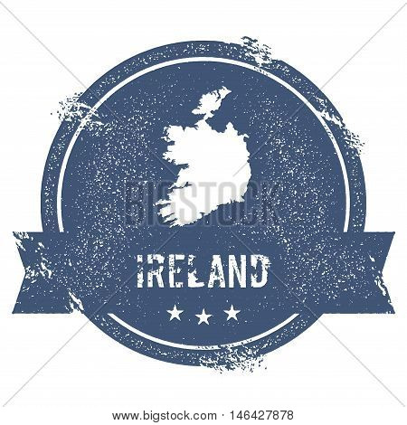 Ireland Mark. Travel Rubber Stamp With The Name And Map Of Ireland, Vector Illustration. Can Be Used