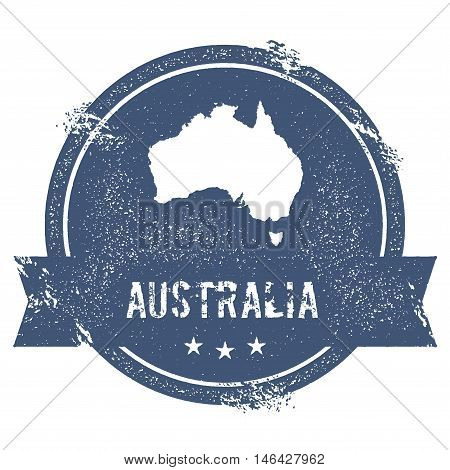 Australia Mark. Travel Rubber Stamp With The Name And Map Of Australia, Vector Illustration. Can Be