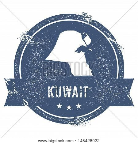Kuwait Mark. Travel Rubber Stamp With The Name And Map Of Kuwait, Vector Illustration. Can Be Used A