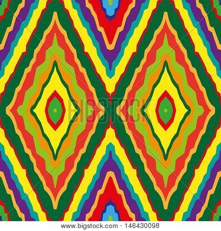 Geometric rainbow seamless pattern. Simple regular color spectrum background. Vector illustration
