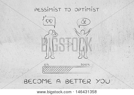 Pessimist To Optimist: Changing Attitude, Progress Bar & Comic Bubble