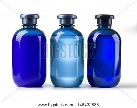 Shampoo bottle on a white background with clipping path