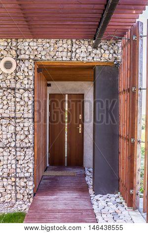 Stony House Entrance