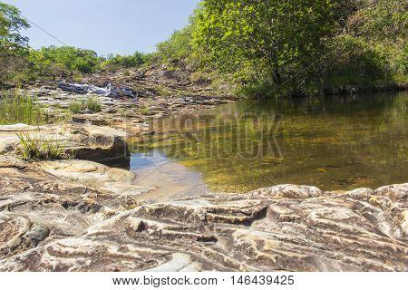 Beautiful Waterfall - Serra Da Canastra National Park - Minas Gerais, Brazil