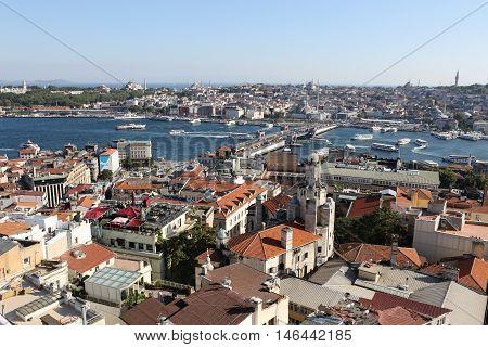 Karakoy And Eminonu District In Istanbul City