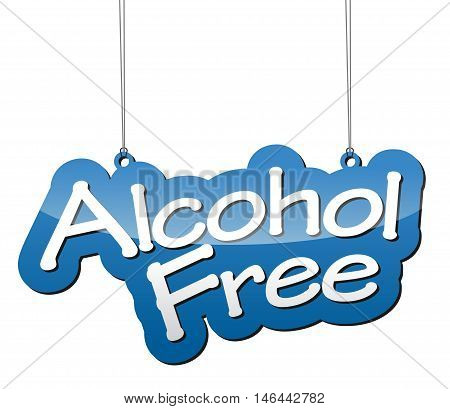 This is blue vector background alcohol free