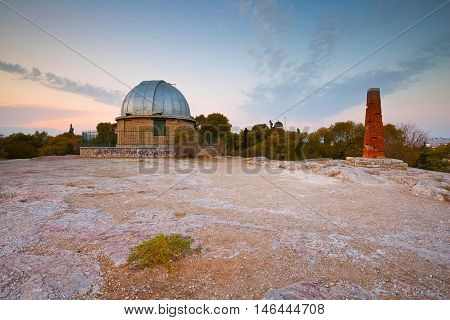 ATHENS, GREECE SEPTEMBER 09, 2016: Telescope of the National Observatory in Pnyx, Athens on September 09, 2016.