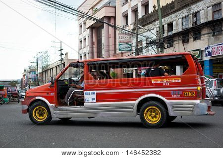 Filipino Public Taxi At Ilo Ilo City