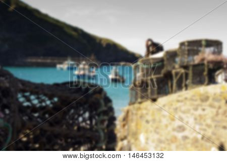Lobster Traps In The Harbour, Port Issac Out Of Focus.