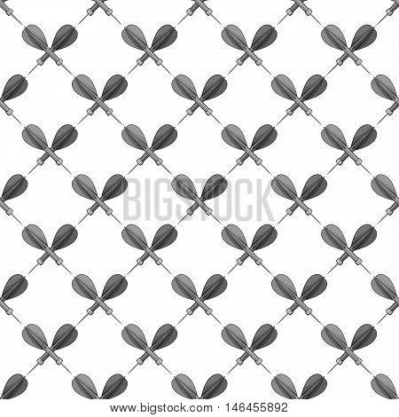 Darts seamless pattern on white background. Sport design vector illustration