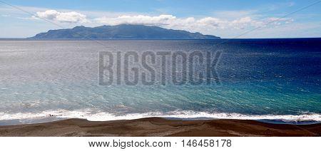 Fonti Di Billa's Stretch Of Black Sand Beach