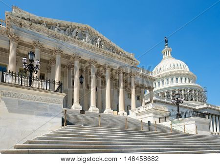 The US House of Representatives at the Capitol building in Washington D.C.