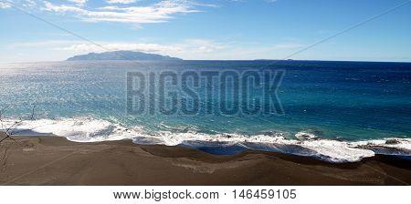 Rip Tides Crash The Black Sand Beach