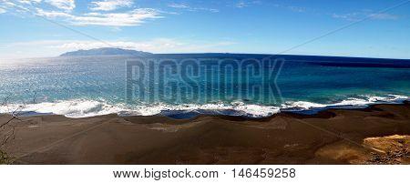Empty Black Sand Beach