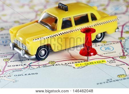 Florida Usa Map Taxi