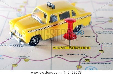 New Mexico  Usa Map Taxi