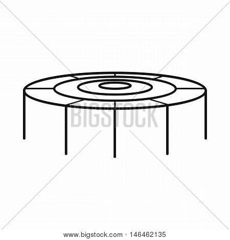 Trampoline jumping icon in outline style on a white background vector illustration
