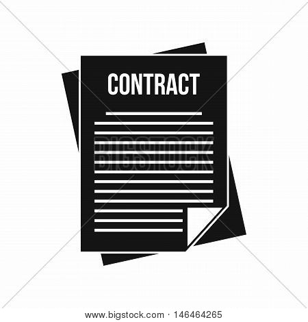 Contract icon in simple style on a white background vector illustration