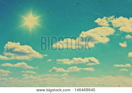 grunge image of a sky with sun
