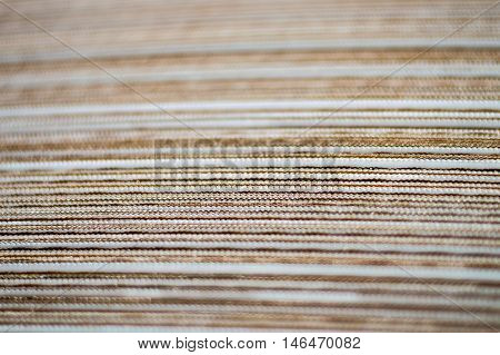 Close Up  of a Corrugated Cardboard from Side View