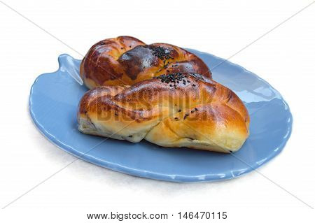 Traditional Turkish Pastry (Acma) in a Plate
