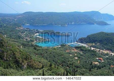 Paleokastritsa on corfu island Greece