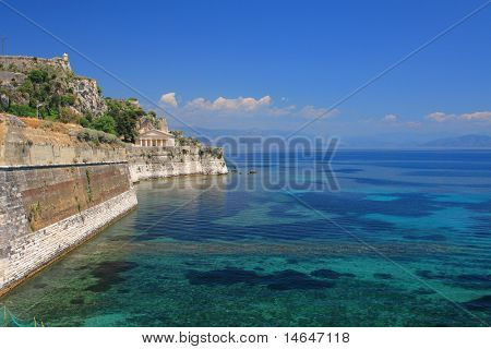 the old Venetian castle of Corfu town