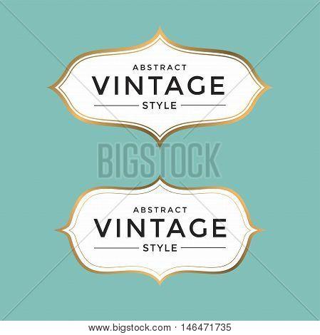 Vintage style gold color frame vector illustration