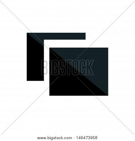 two black squares. burs shot camera option. vector illustration