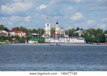MYSHKIN, RUSSIA - JULY 13, 2016: View of the hotel complex