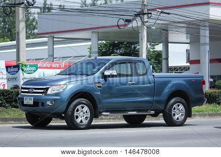 CHIANGMAI, THAILAND - AUGUST 10, 2016: Private Pickup car Ford Ranger. On road no.1001 8 km from Chiangmai city.