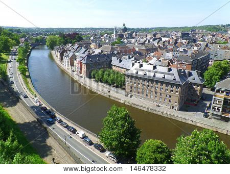 A stunning view seen from Citadel of Namur, Belgium