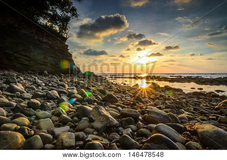 Labuan, Tanjung Kubong : The glory shining morning during low tide water. Very calm to see this scenery