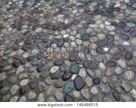 Cobblestone Path after raining in Mostar, Bosnia and Herzegovina