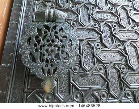 Moorish Pattern Door of Cathedral of Seville, Spain