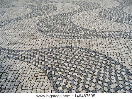 Art on the Street, Cobblestone Pavement in Lisbon