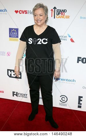 Kathy Bates at the 5th Biennial Stand Up To Cancer held at the Walt Disney Concert Hall in Los Angeles, USA on September 9, 2016.