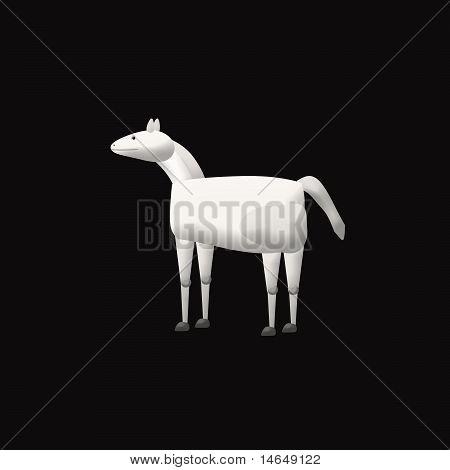 White Horse on Balck