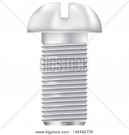 Metal bolt. Screw icon. Vector illustration isolated on white background