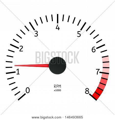 Tachometer icon. Vector illustration isolated on white background.