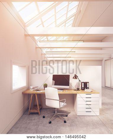 Legal Company Office In Attic