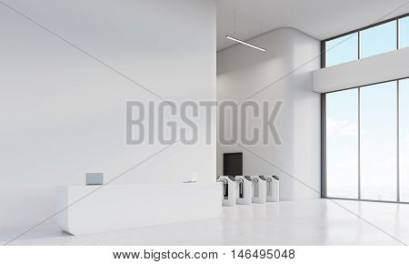 Advertising Agency Office With Turnstiles