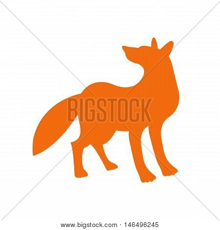 red fox vector illustration side view silhouette