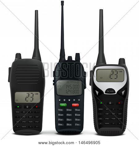 Radio transceiver. Vector illustration on white background