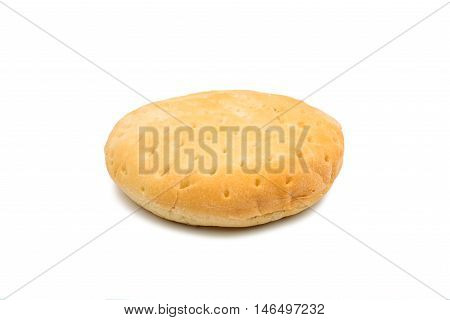 beautiful bread baked, food on a white background.