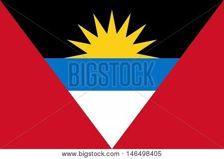 Illustration of the flag of Antigua and Barbuda
