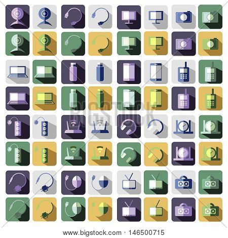 Vector Set Of Technology Icons